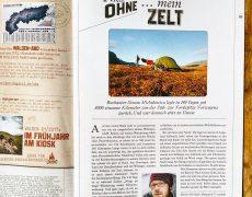 Nicht ohne mein Zelt – ein Hoch darauf im Walden Magazin
