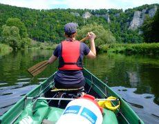 Paddelglede vor der Haustüre – mit dem Ally Canadier unterwegs im oberen Donautal