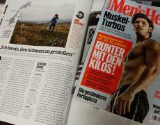 Ein Norwegen-Wanderer als Gewinnertyp im Men's Health Magazin