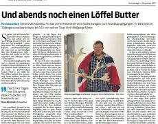 Ein Bericht über meinen Norwegen Vortrag in Tübingen im Schwäbischen Tagblatt